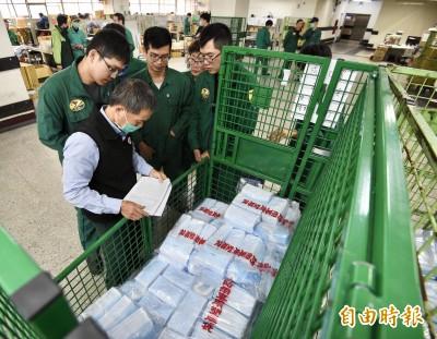每天配送160多萬片口罩 中華郵政︰3千名郵差負責