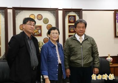 台南第7位立委 陳椒華拜訪南市議長郭信良