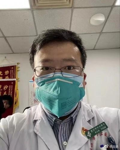 武漢肺炎》最早揭疫情被指「造謠」 醫師李文亮染病過世