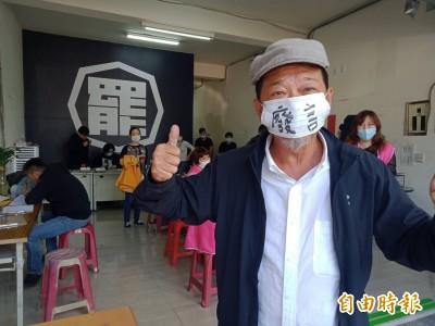 曾預言「韓國瑜會被雙殺」 廖大乙戴「廢言」口罩連署罷韓