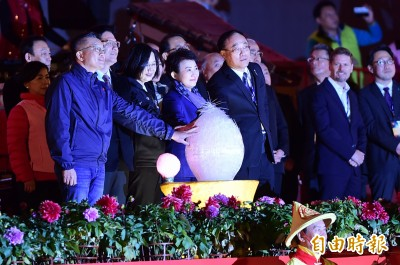 台灣燈會點燈開幕 蔡總統:一起把台灣的美好傳遞出去