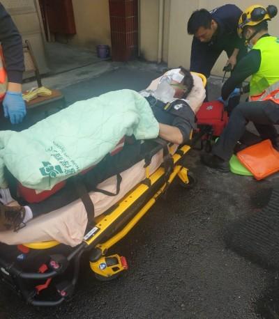 台中太平橡膠廠集塵器疑電線起火 1男臉部燒傷送醫