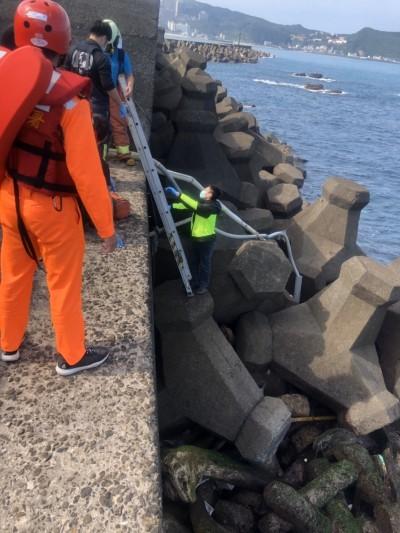 出門釣魚失聯 萬里男子被發現陳屍消波塊下