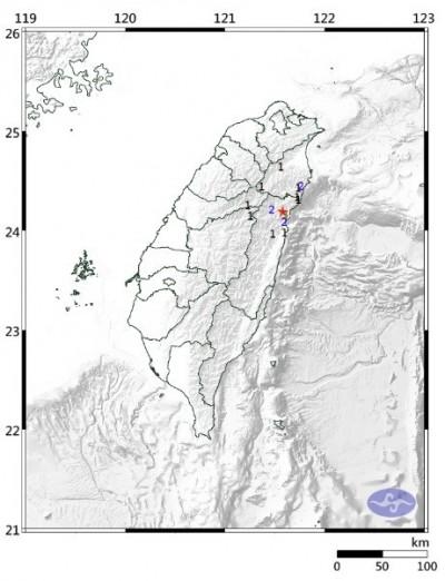 花蓮深夜地震 規模3.5