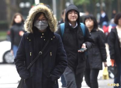 鋒面寒流週末接力報到!全台轉雨急凍3天 低溫下探7度