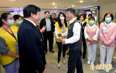 武漢肺炎》陳時中赴桃機 慰問第一線防疫人員