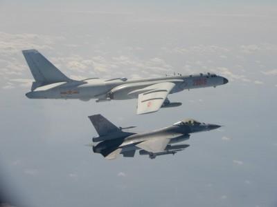中國軍機越中線演訓 更一度鎖定我F16戰機挑釁