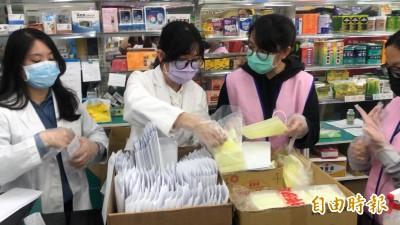 武漢肺炎》藥師代售口罩辛苦 大仁科大學生當志工協助