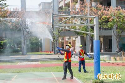 武漢肺炎》開學前防疫總動員 中市高中以下校園全面消毒