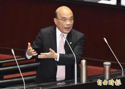 蘇貞昌:第二架包機阻礙在中國那邊 不在台灣
