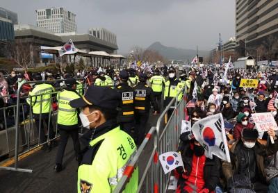 武漢肺炎》首爾違禁令大規模集會 市長:依法嚴正處理