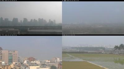 中南部空品差 上午9點仍一片霧茫茫 白天舒適早晚涼