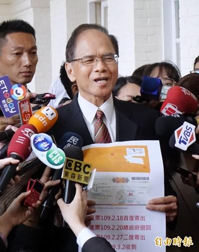 游錫堃稱遭二度恐嚇  警:僅再寄匯票算是前案的延伸