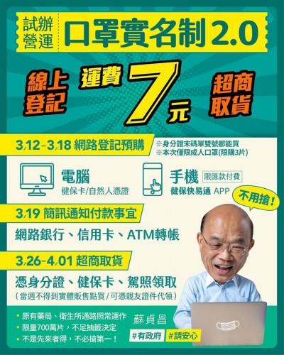 武漢肺炎》口罩實名制2.0開放網路預購 Q&A流程大全教戰