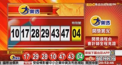 3/17 大樂透、雙贏彩、今彩539 開獎囉!