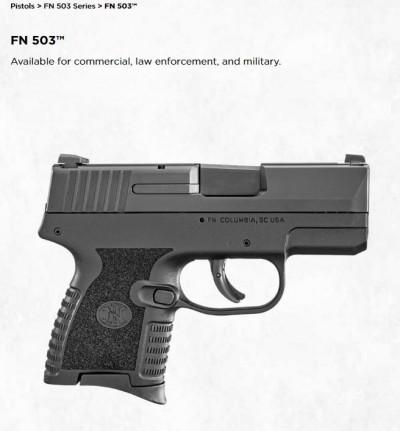 軍武新知》FN USA公開最新袖珍型半自動手槍 搶進美國民用市場
