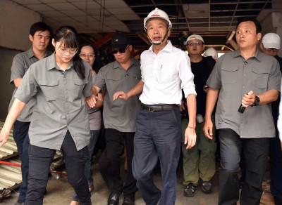 疫情延燒 韓國瑜低調視察警局 不在公務行程不安排採訪
