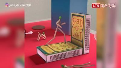 火柴人示範如何停止「疫情延燒」 簡易動畫讓小孩都懂防疫關鍵