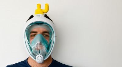 義大利製造商巧思改造 迪卡儂浮潛面罩變身「呼吸輔助器」