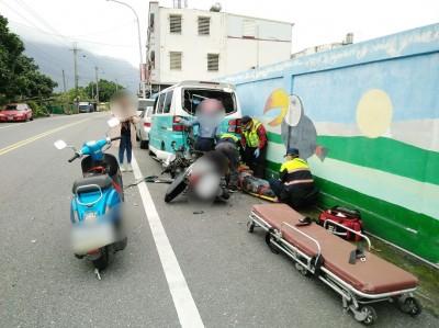 自撞路邊小貨車 花蓮騎士送醫不治