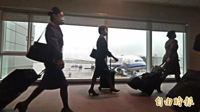 第二架湖北「類包機」17:39飛抵上海 預計載220人返台
