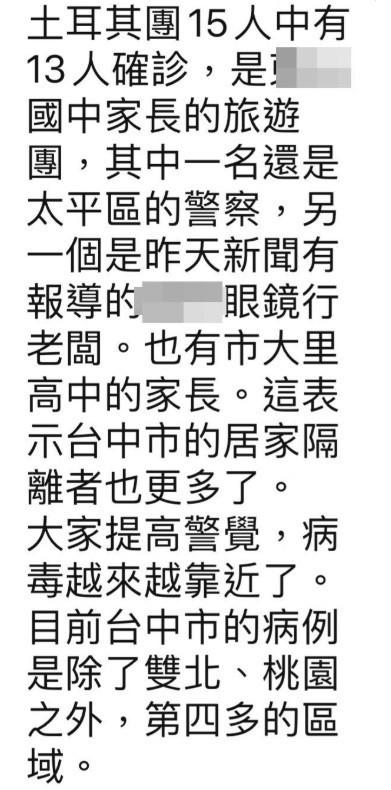 武漢肺炎》散佈太平警察染疫假訊息 警逮2人送辦