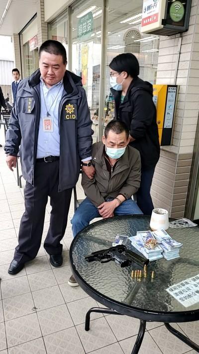 板信大直分行搶案》搶匪逃1天落網 將移送台北地檢署複訊