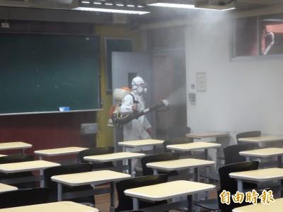 武漢肺炎》校園出現確診學生 台師大趁清明展開校園大消毒