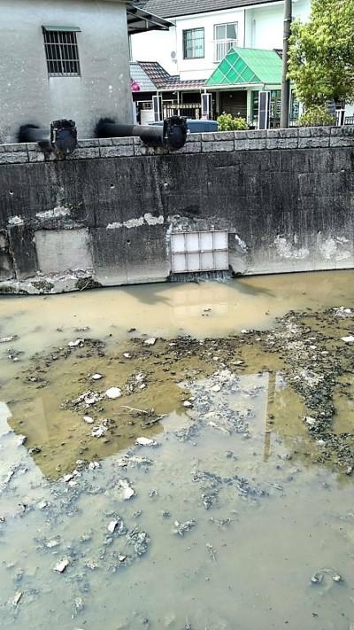 燕巢溝渠遭油質污染? 環保局:民生污水排入