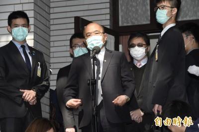 口罩外交被中國沾光 蘇揆:你聽得下去嗎?