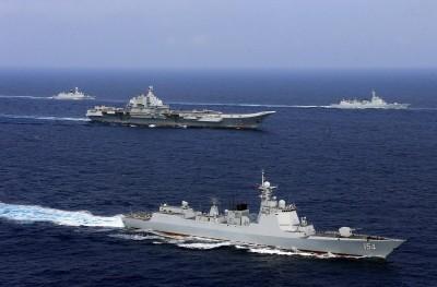 國防部證實 中國遼寧艦編隊今日經過東部外海