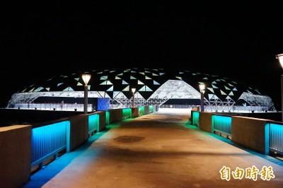 絕美!大鵬灣「巨蛋」試營運點燈 越夜越美麗