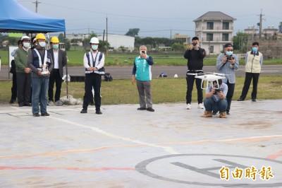 林佳龍視察宜大無人機實驗飛行場 已214人取得證照