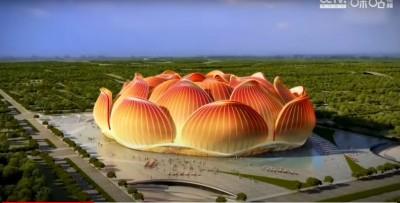 造型怪怪!中國要蓋大蓮花足球場 網友酸:乾脆用corona造型