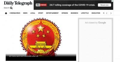 武漢肺炎》中使館轟刊「中國病毒國徽」 澳媒編輯爆氣回嗆
