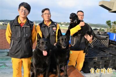 國際搜救犬日!桃園市搜救犬獲飼料獎勵