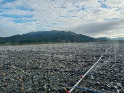 河床揚塵釀空污 三河局種樹、灑水展成效