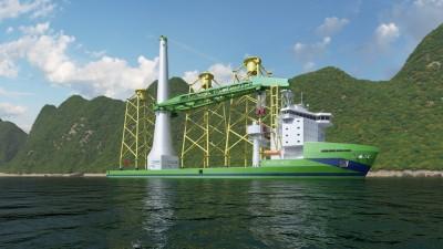 首艘台製離岸風電安裝船!「Green Jade」啟造2023投入營運
