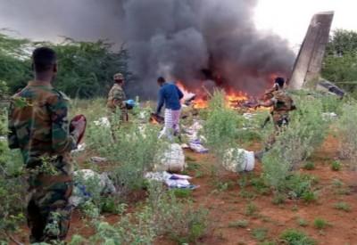 索馬利亞防疫物資運輸機疑遭擊落 機上6人均罹難