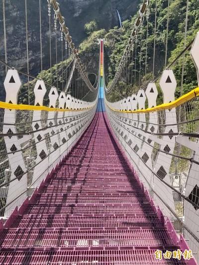 雙龍瀑布七彩吊橋祕境 拍出「暢飲」瀑布創意照