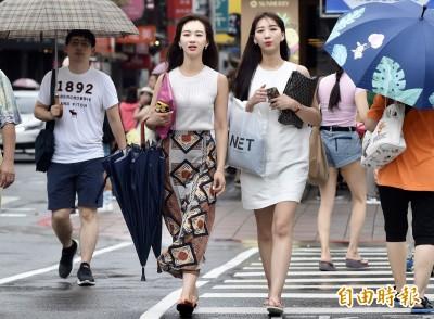 北台灣5縣市大雨特報 中南部高溫上看36度