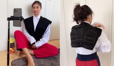 日本籲民眾少外出 正妹在家用牛仔褲一招拍專業證件照