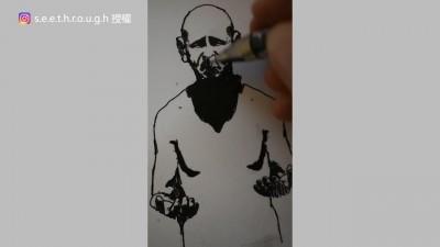 厚達1400頁!藝術家手繪手翻書 用舞動骷髏表現疫情令人目不轉睛