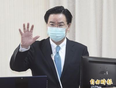 吳釗燮:台灣有權參與WHA 但恐成中國代罪羔羊