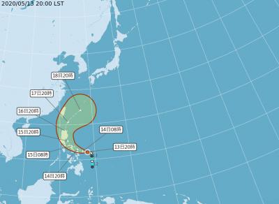 變強了!氣象局發布:今年首颱「黃蜂」轉中度颱風