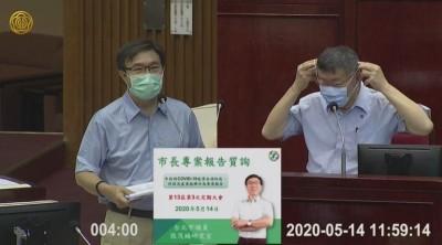 進議會要不要戴口罩?柯文哲與議員交鋒敗陣「乖乖戴上口罩」