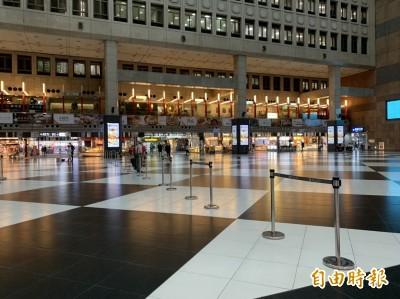 台北車站大廳 規劃永遠禁止席地而坐
