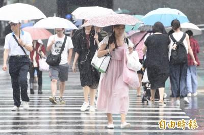 10縣市大雨特報 專家:明梅雨鋒面到 降雨持續至27日