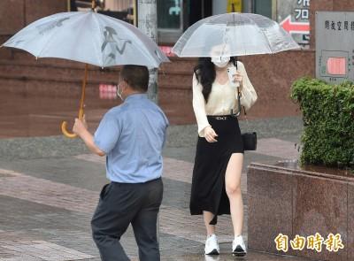 鋒面緩慢向南移動 北台灣、西半部大雨特報