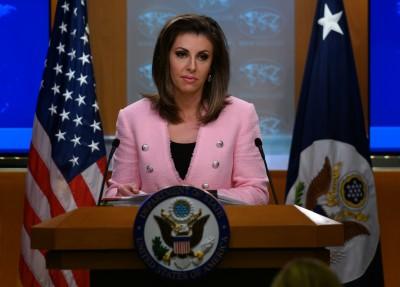 美國務院發言人秀我國國旗 再嗆中國惡質打壓